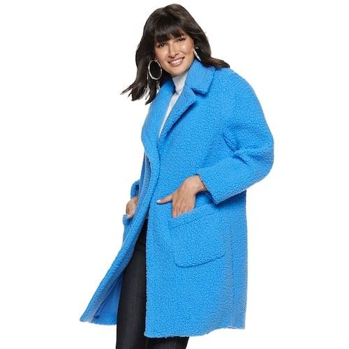 Nine West Long Teddy Coat