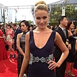 30 Rock star Katrina Bowden sparkled in a low-cut dress. Source: Instagram user elleusa