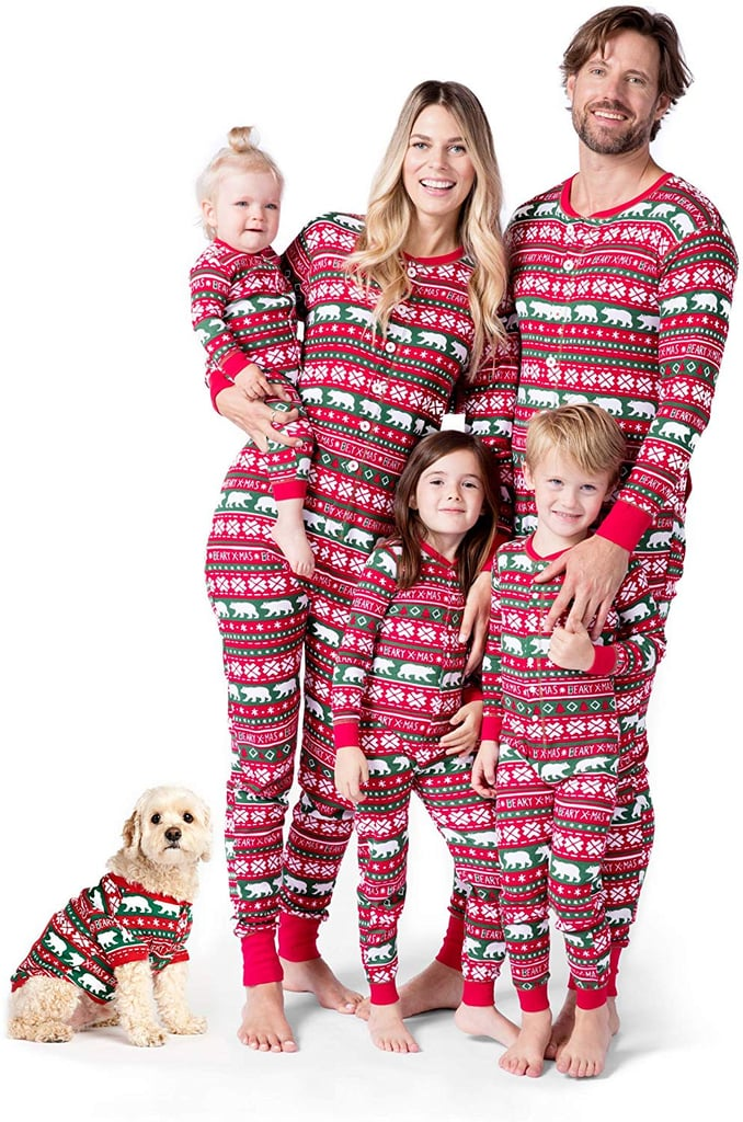 Little Blue House by Hatley Beary X-mas Family Union Suits