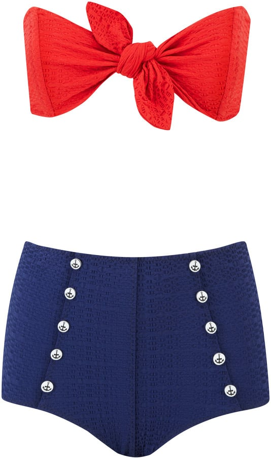 Lisa Marie Fernandez Poppy Button High Waisted Bikini ($390)