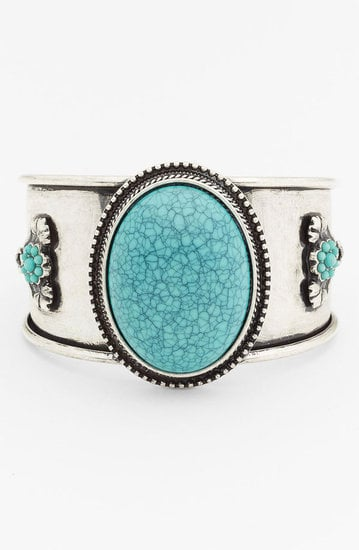 Channel a little Southwest-feeling cool with this BP Vintage faux turquoise cuff ($14).