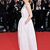 Jessica Chastain posed at the opening of the Cannes Film Festival and the premiere of Moonrise Kingdom.