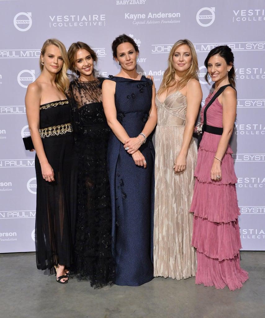 Pictured: Jessica Alba, Kate Hudson, Jennifer Garner, Kelly Sawyer, and Norah Weinstein