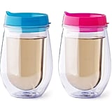 Bev2Go Double Wall Insulated Wine Glass