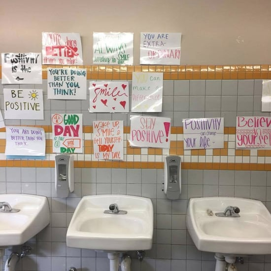 School Replaces Girls' Bathroom Mirrors With Positive Signs