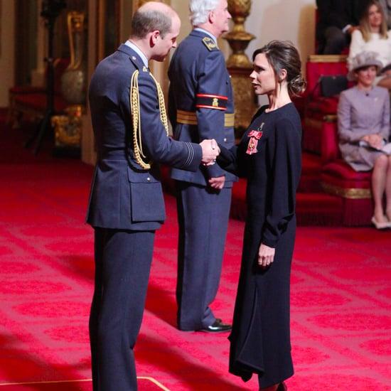 Victoria Beckham at OBE Investiture Ceremony