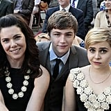 Lauren Graham as Sarah, Miles Heizer as Drew, and Mae Whitman as Amber on Parenthood.