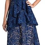 Alice + Olivia Florrie Ruffle Mid Length Dress