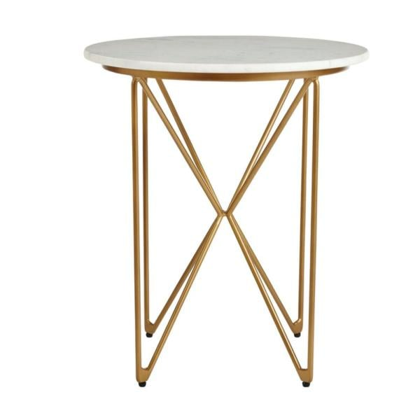Home Decorators Collection Round Accent Table With Gold Finish
