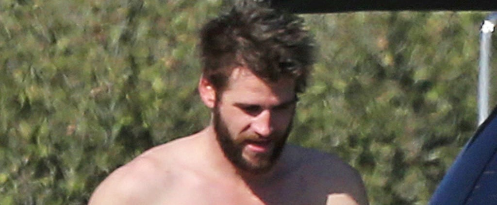 "Liam Hemsworth Goes Shirtless After Surfing, and All We Can Say Is ""Bless You!"""