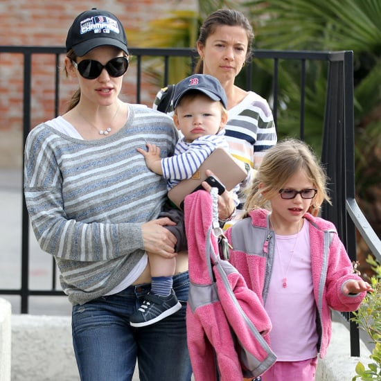 Jennifer Garner With Violet and Seraphina at Karate