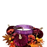 Maroon Pumpkin 3-Wick Candle Ring