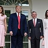 Melania Trump's Pink Wrap Dress