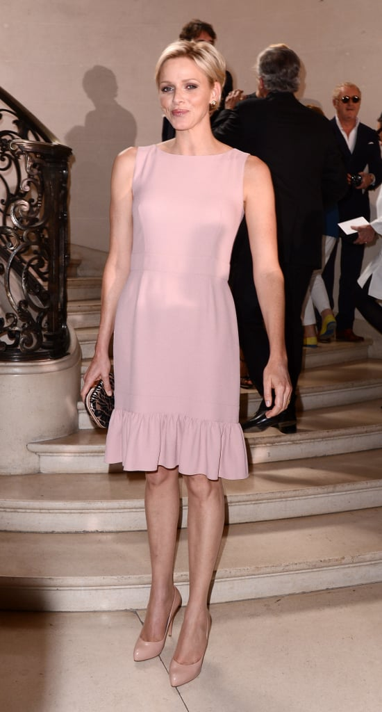 At the Christian Dior Haute Couture show during Paris Fashion Week in July 2012.