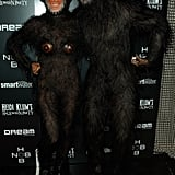 Heidi Klum and Seal were apes for Halloween.
