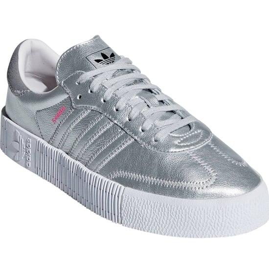 Adidas Silver Samba Sneakers