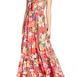 Eliza J Floral Tie-Front Tiered Maxi Sundress