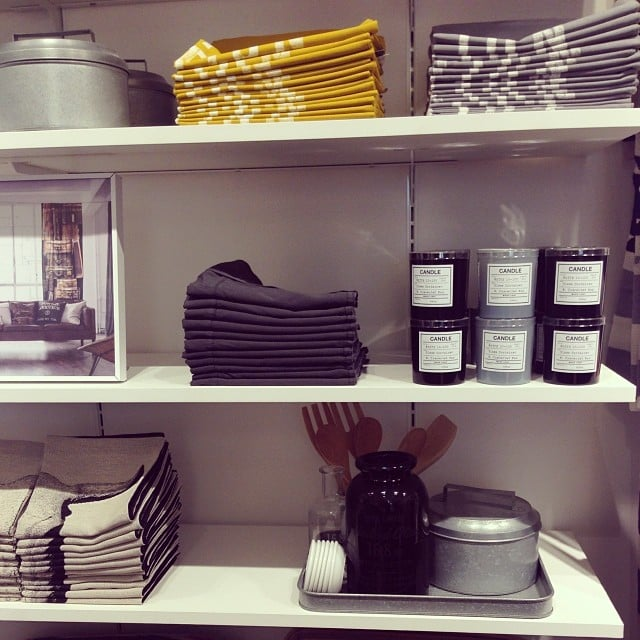 More of the homewares on offer at H&M — can you tell we like our lifestyle goods? Those yellow and grey tea towels are on the list.  Kate Kendall from Flow Athletic showed us how to get into Crow Pose at Wanderlust on the weekend.