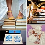 Bookworm Bride: How to Add Literary Charm to Your Wedding School's back in session for some pencil pushers this week, and we're feeling nostalgic for the scent of library books and the days of reading textbooks in coffee shops. We're not ashamed to admit we have a nerdy side, and we think book- and library-inspired details would make any engagement party, bridal shower, or wedding that much more of a page-turner. So if you're a bookworm like us, dive into these ideas for adding literary charm to your big-day celebrations.
