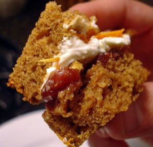 Recipe For Pumpkin Bread Sandwich With Pecans and Cream Cheese For Halloween 2009-09-29 22:12:24