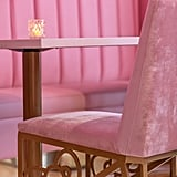 There are Hello Kitty accents everywhere, even on chairs.