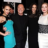 Michael Kors was surrounded by lovely ladies post-show.