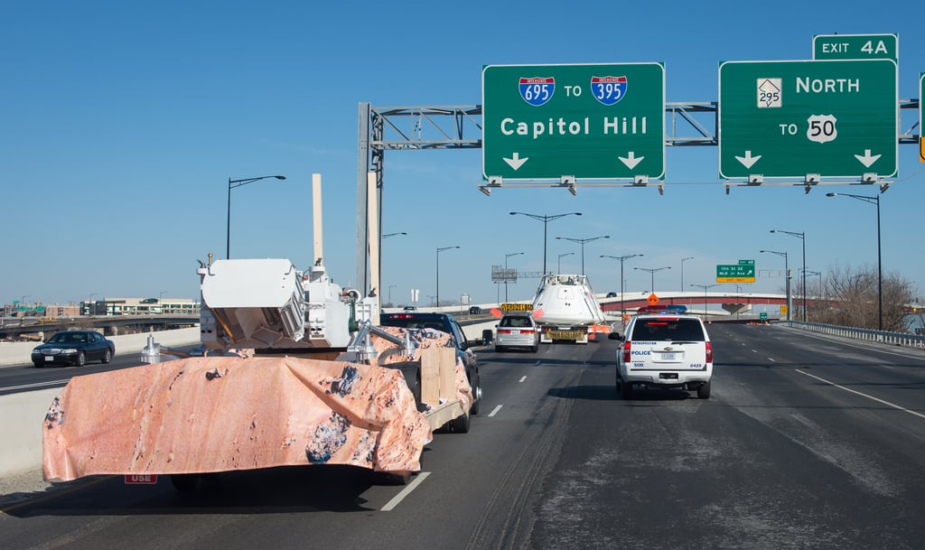 Just a Martian rover on the freeway.  Source: Flickr User NASA HQ