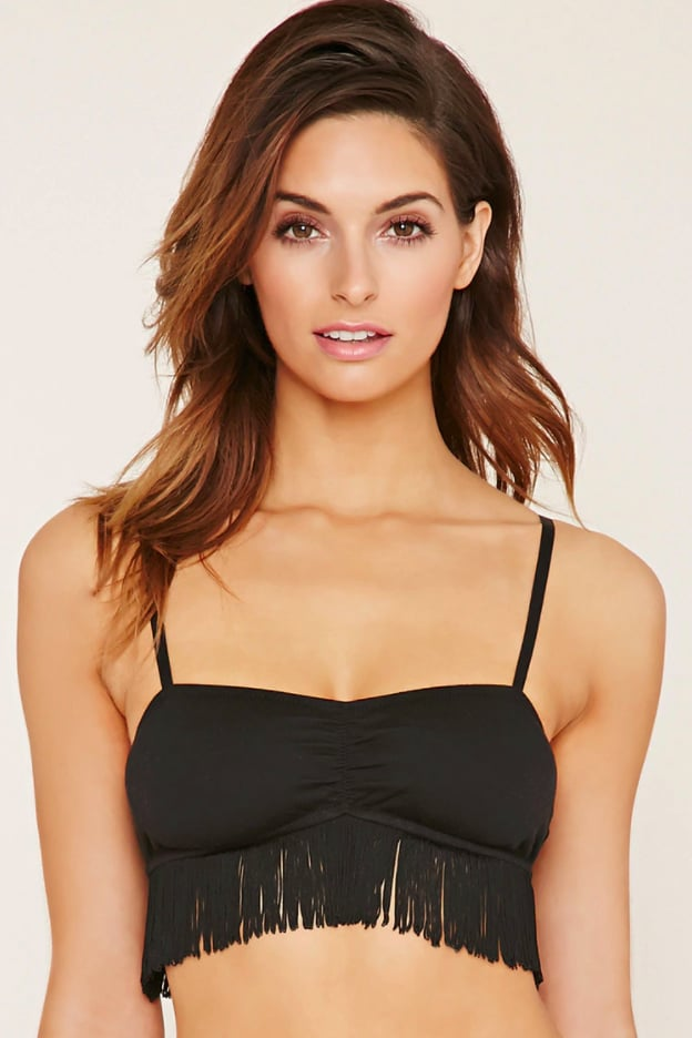 Get playful with Forever 21's Fringed Ruched Bralette ($13)