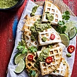 Spicy Pork al Pastor Quesadillas With Roasted Tomatillo Salsa Verde
