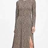 Banana Republic Print Fit-and-Flare Dress