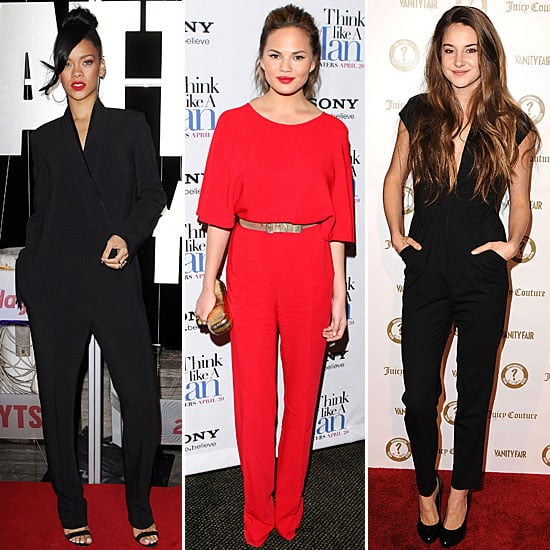 Celebrities Wear the Jumpsuit Trend: See How Rihanna, Chrissy Teigan, Shalene Woodley & more wear it!