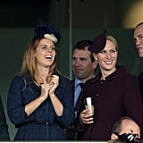Autumn Phillips, Princess Beatrice, and Mike Tindall