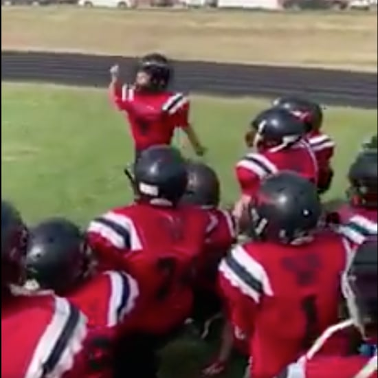Boy Gives Football Team Motivational Pep Talk