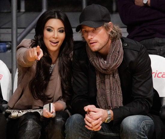 Kim Kardashian and Gabriel Aubry at Lakers Game