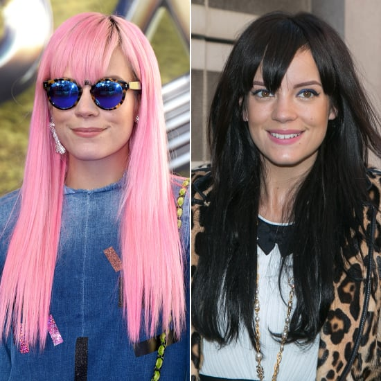 Celebrity Bright Coloured Hair vs. Natural Hair
