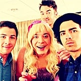 """Jimmy Fallon teased his """"Ew!"""" skit with the Jonas Brothers. Source: Instagram user latenightjimmy"""