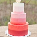 Ombre Heart-Topped Cake