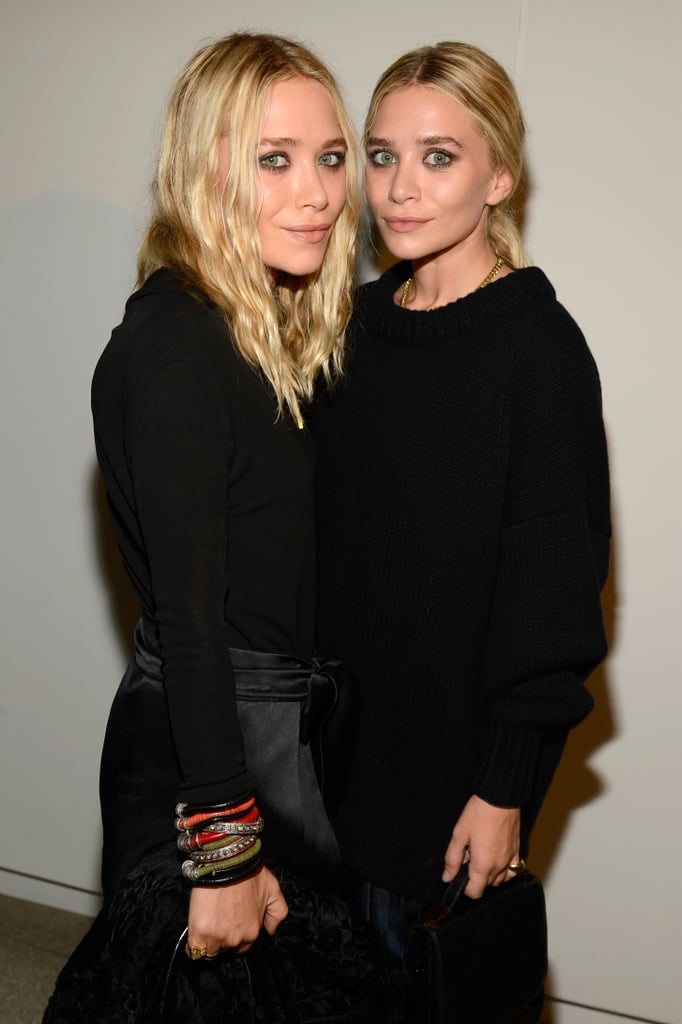 Mary-Kate and Ashley Olsen coordinated their smoky eyes but opted for beachy waves and a low ponytail, respectively.
