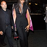 Naomi Campbell Wears Alexander McQueen The Story Bag