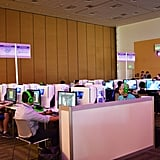 The Intel Gaming Lab let anyone hop on and play.