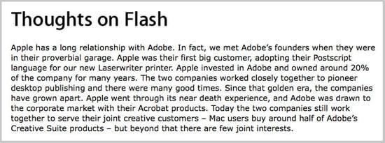 """Steve Jobs's Open Letter to Adobe, Jon Stewart Calls Apple """"Appholes"""""""