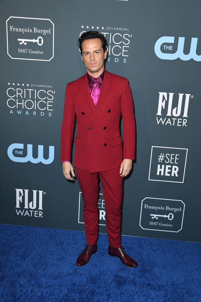 Andrew Scott Wearing Valentine's Day Colors at the Critics' Choice Awards