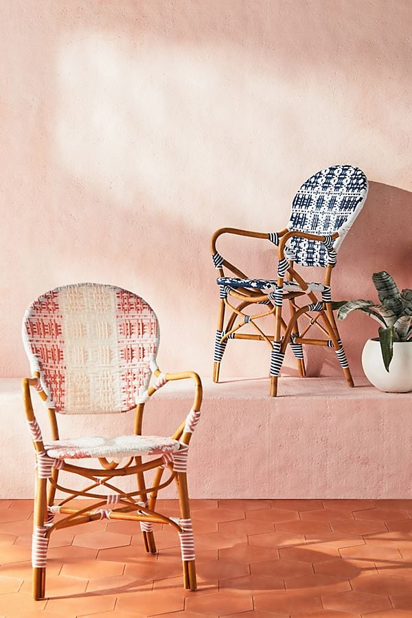 Rattan Welsh Check Bistro Chairs