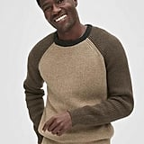 This Textured Colorblock Crewneck Sweater ($70) is a low-key way to help him experiment with color-blocked pieces.