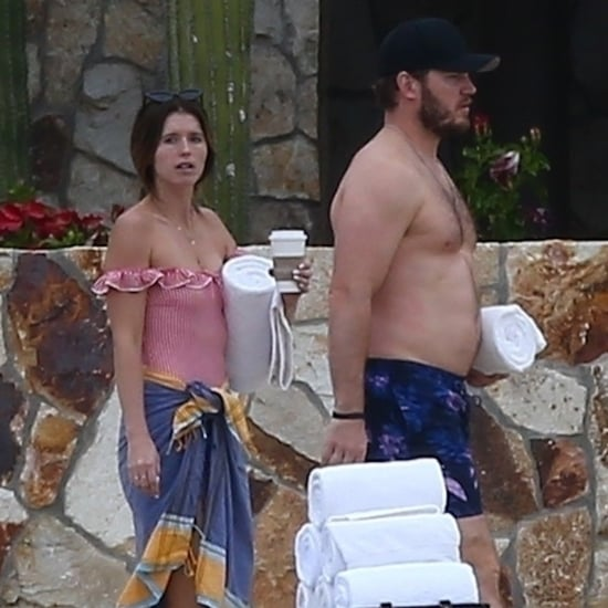 Chris Pratt and Katherine Schwarzenegger in Cabo Jan. 2019