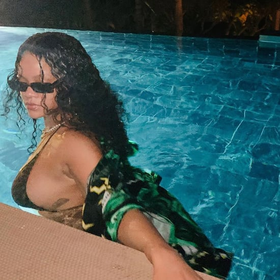 Rihanna Looks Amazing in This Tiger Print Swimsuit