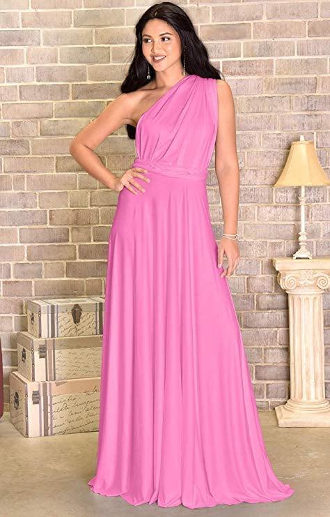 KOH KOH Long Convertible Wrap Maxi Dress