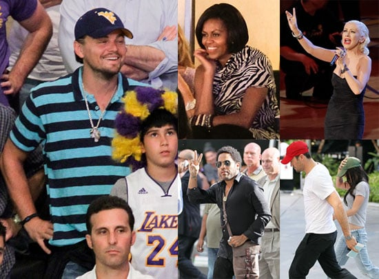 Pictures of Leonardo DiCaprio, Michelle Obama, And More at The Lakers vs. Celtics Game 2010-06-16 20:00:35