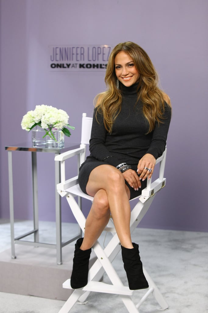 8a15686ed91 Jennifer Lopez sat down to promote her fashion and home collection for Kohl s  in Connecticut this