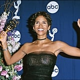 Halle Berry celebrated her Emmy win in 2000.